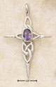 amethyst knot work celtic cross pendant