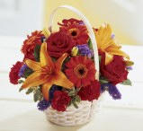 Summer basket arrangements