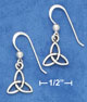 triquetra knot earrings in celtic style