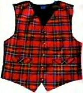 Worsted Wool Scottish Tartan Waistcoats and Vests