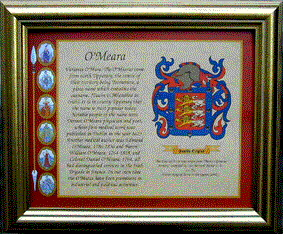 Coat's of arms, clan crest and family crests