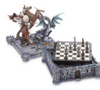 Fantasy Dragon & Knight Chess Set