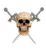 Resin Skull Sword Holder