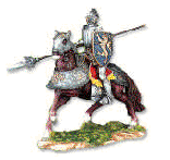 French Medieval Knight Figurine