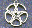 woven pentacle pendant in sterling